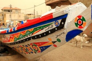Canoe in Guet Ndar-Saint Louis du Senegal