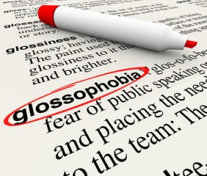 Public Speaking Fear Glossophobia Dictionary Definition Word