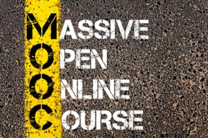 Business Acronym MOOC as Massive Open Online Course